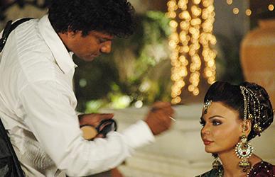 Satish Kargutkar with Rakhi Sawant