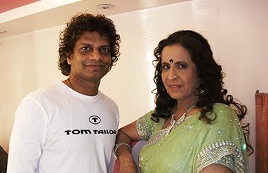 Satish Kargutkar with Usha Nadkarni
