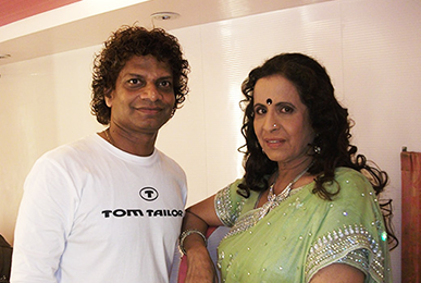 Satish Kargutkar with Usha Nadkarni